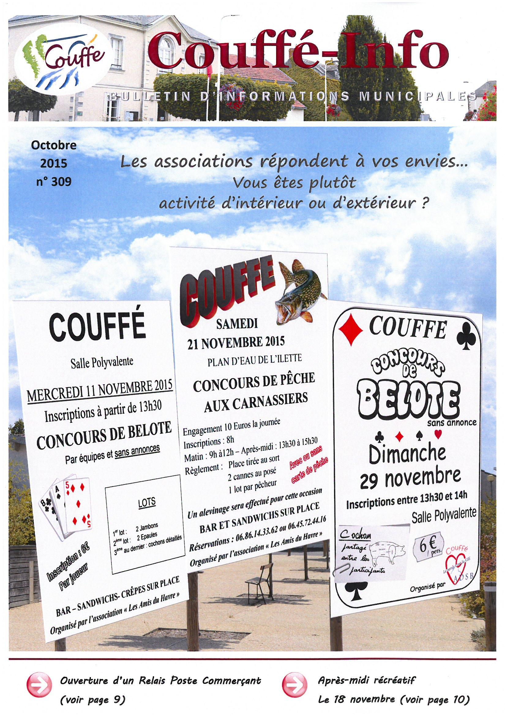 couverture Couffé-info octobre 2015