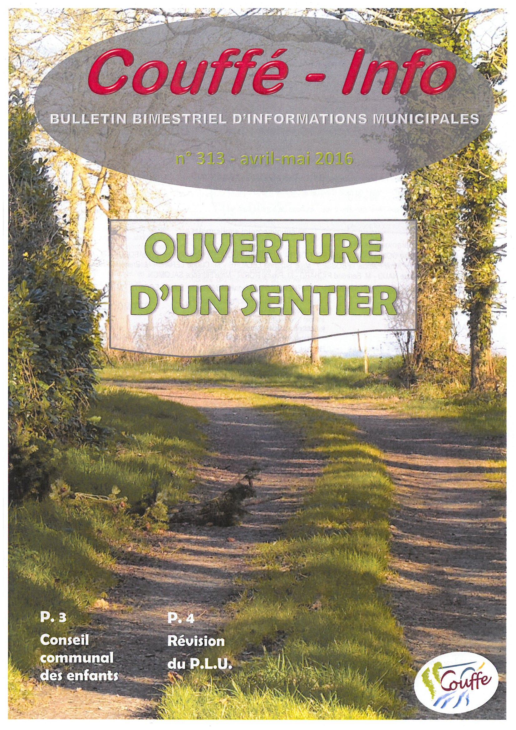 couv Couffé-Info avril-mai 2016